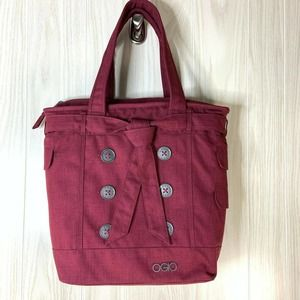 OGIO Hamptons Laptop Tote Burgundy Embroidered